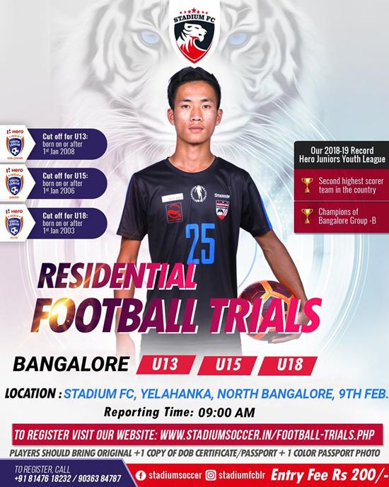 Stadium Soccer School Football Trials