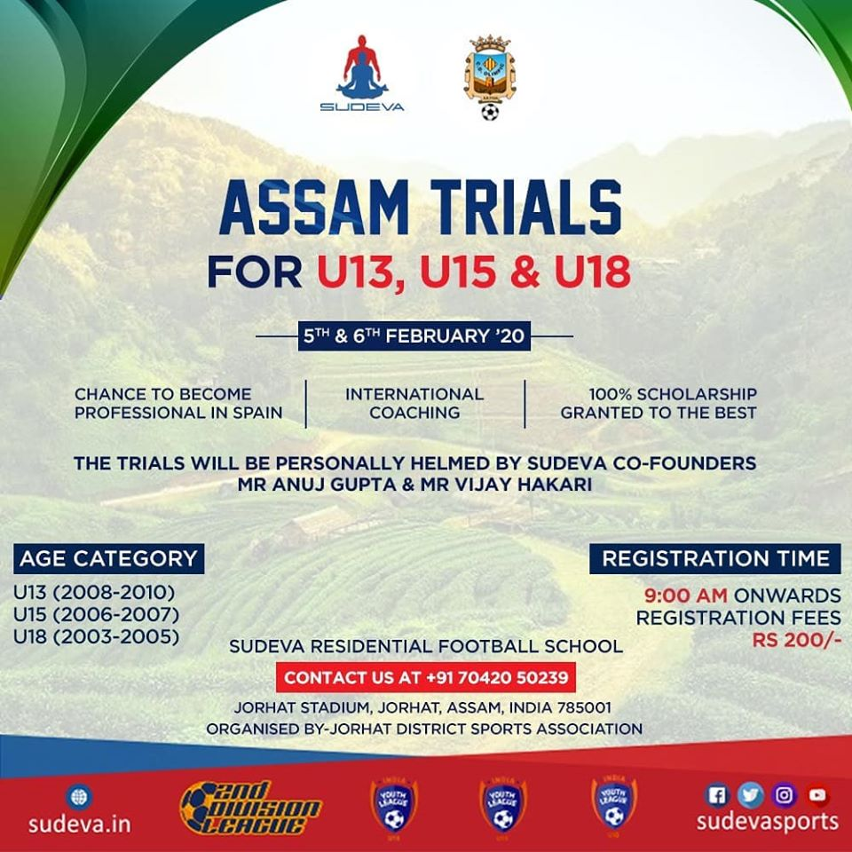 Sudeva Football Academy Assam Trials
