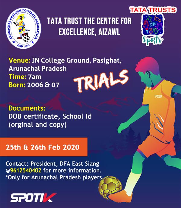 Trials for Tata Trust Centre, Aizawl