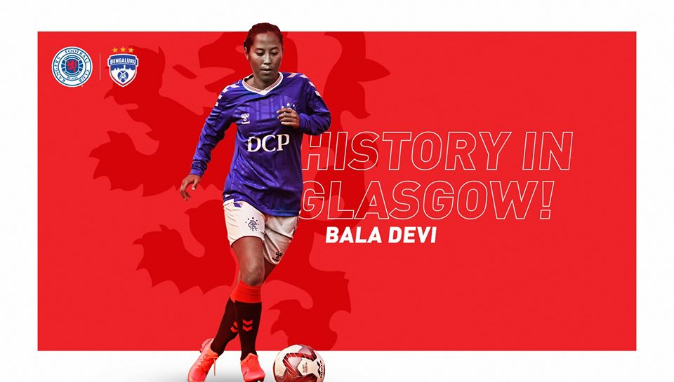 Bala Devi makes her debut for Rangers FC