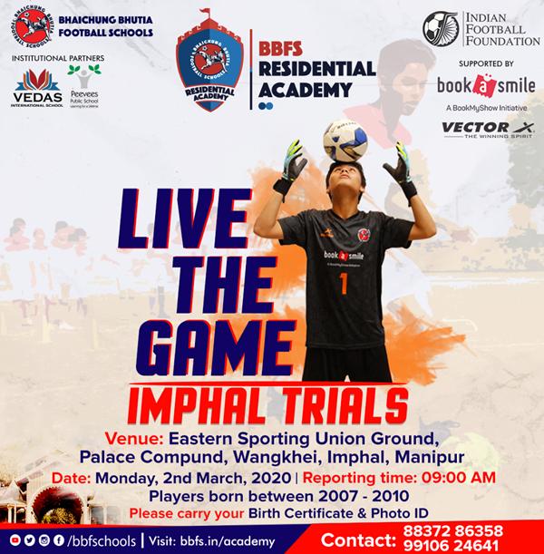Bhaichung Bhutia Football Schools, Imphal Trials