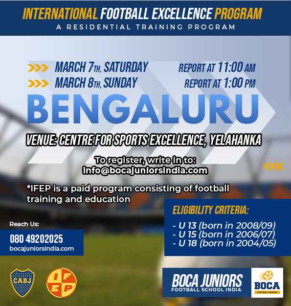 Bocajuniors Football School Bengaluru Trails