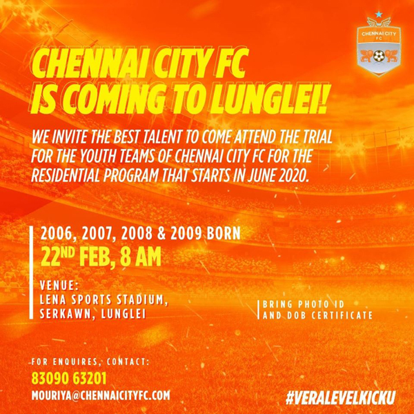Chennai City Football Club Trials at Lunglei, Mizoram