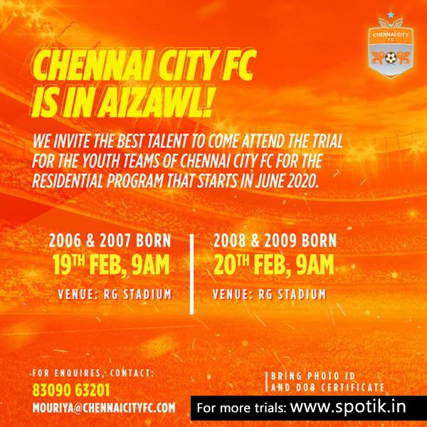 Chennai City FC Aizawl Trials