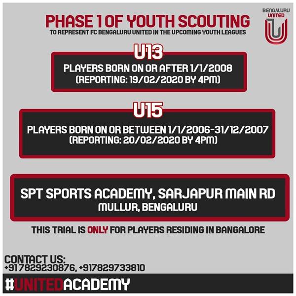 FC Bengaluru United Youth Scouting