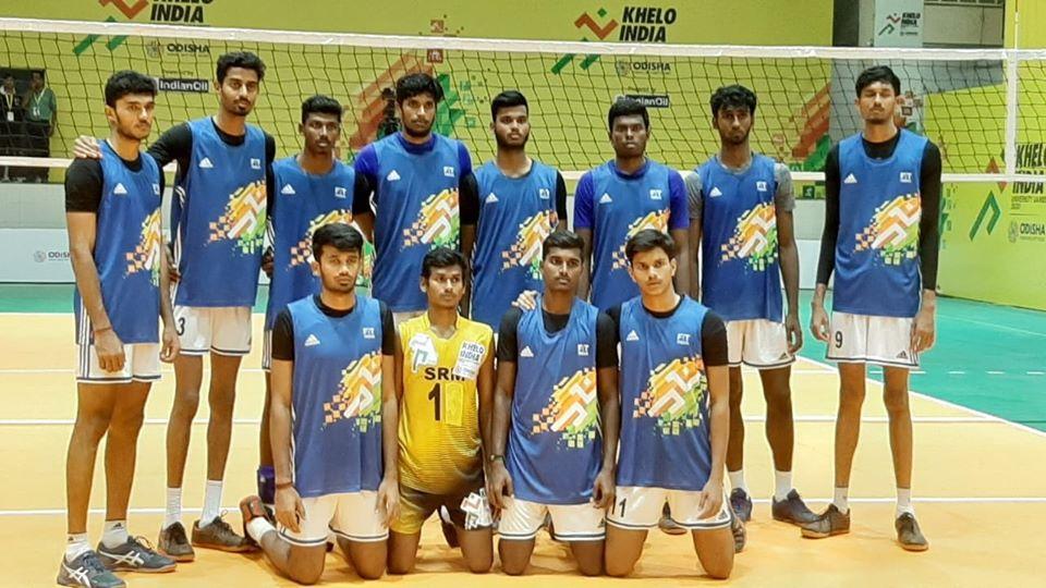 Kurukshetra University won Gold in the Men's Volleyball