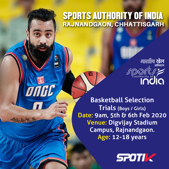 Basketball Selection Trials SAI Rajnandgaon, Chhattisgarh.