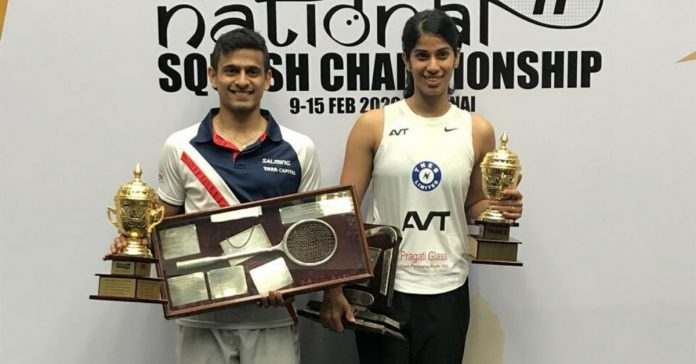 Saurav Ghosal and Joshna Chinappa