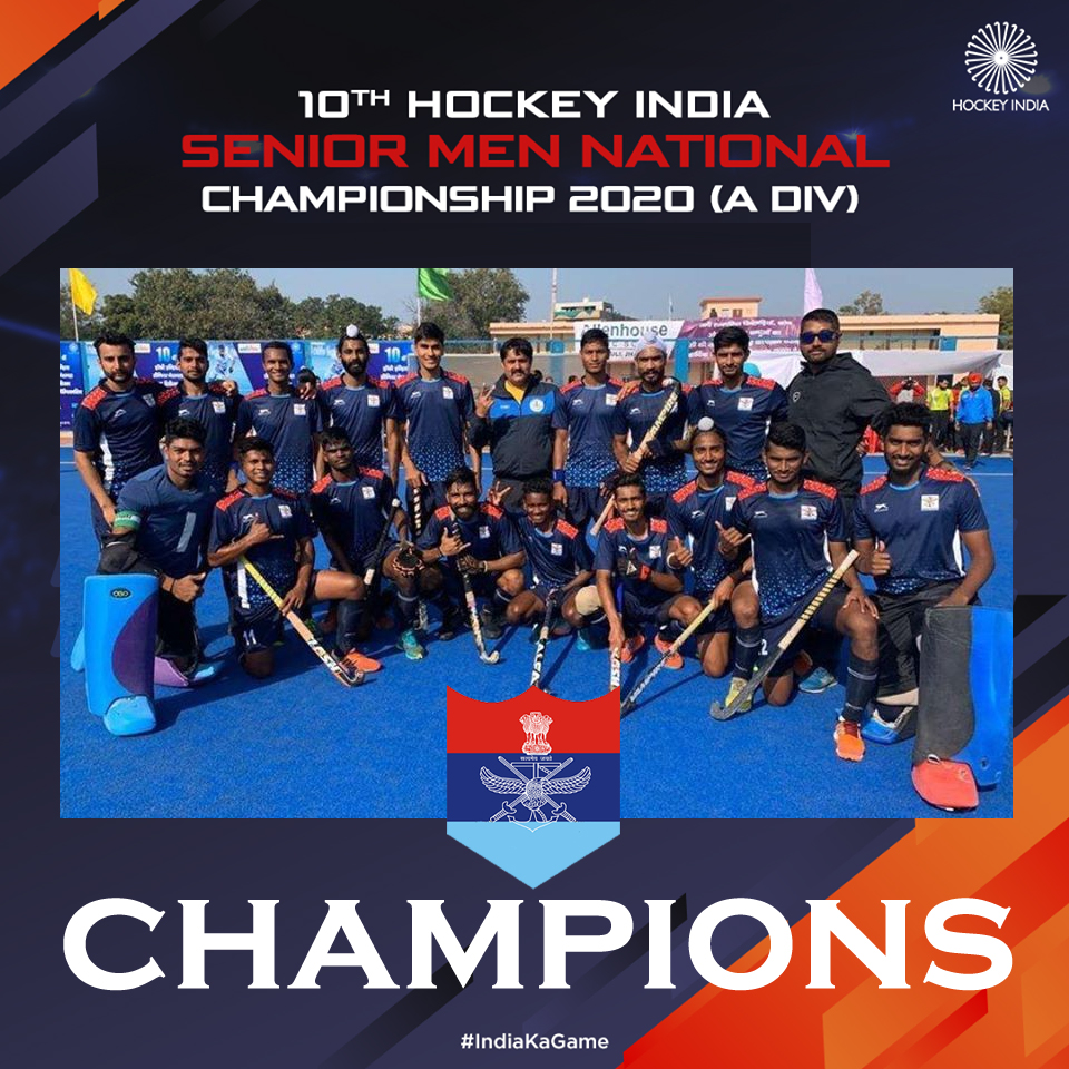 Services won National Hockey Championship