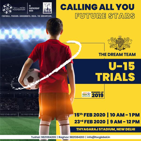 Football U-15 TRIALS - New Delhi