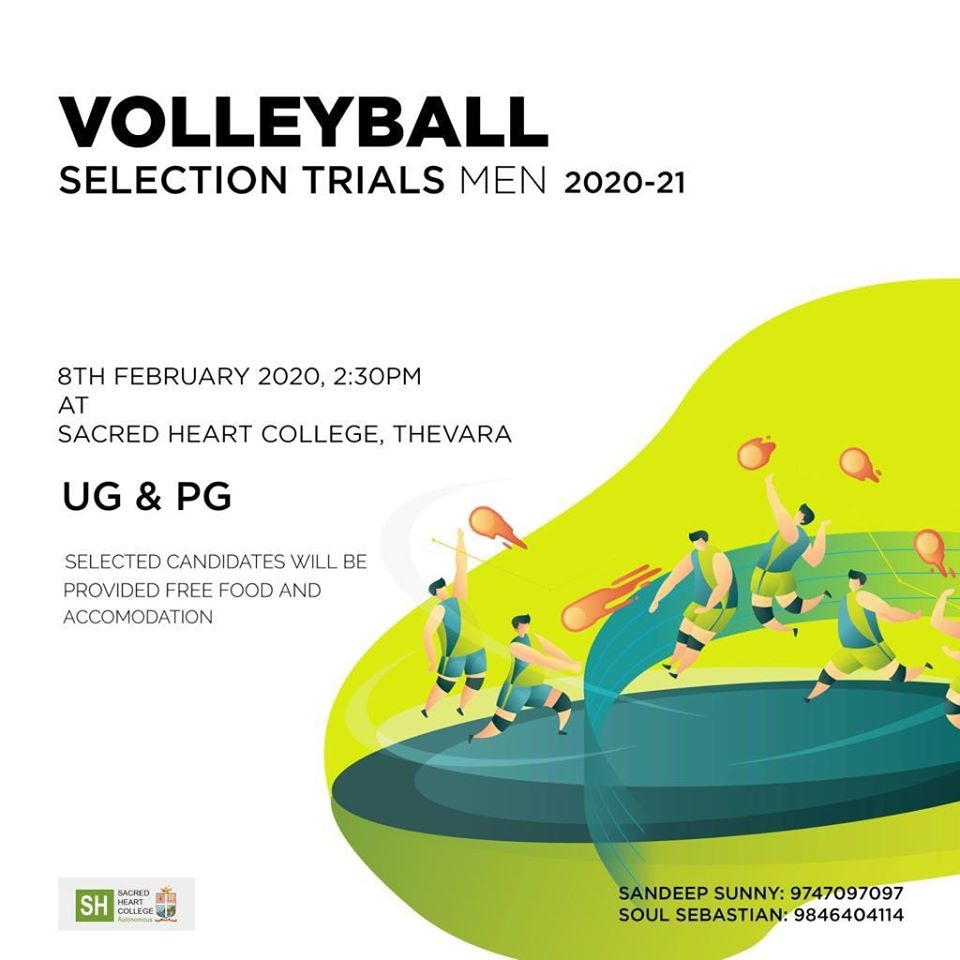 Volleyball Selection Trials. Kochi, Kerala.