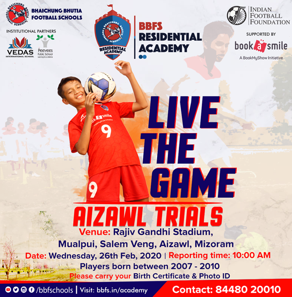Bhaichung Bhutia Football Schools Aizawl  Trials