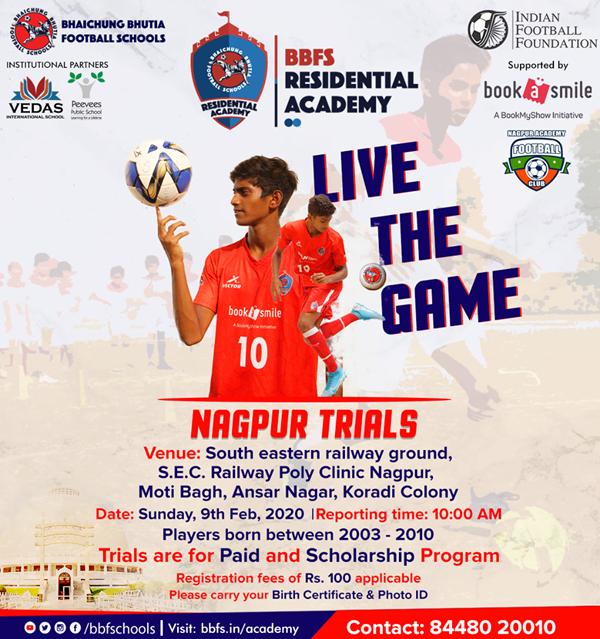 Nagpur Trials : Bhaichung Bhutia Football Schools