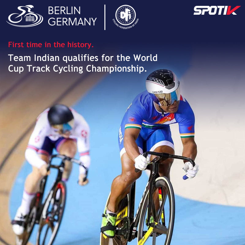 The Indian team sprint qualifies for the Senior World Cup Track Cycling Championship