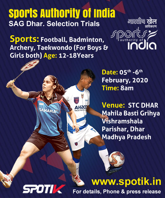 Sports Authority of India SAG Dhar. Selection Trials