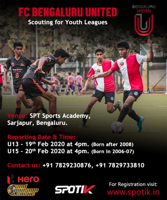 FC Bengaluru United Scouting for Youth Leagues.