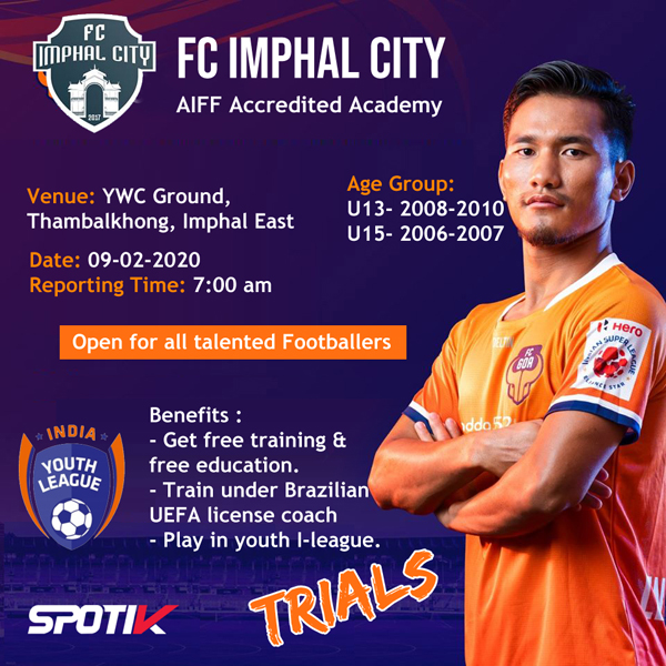 Youth I-League trials for FC Imphal City