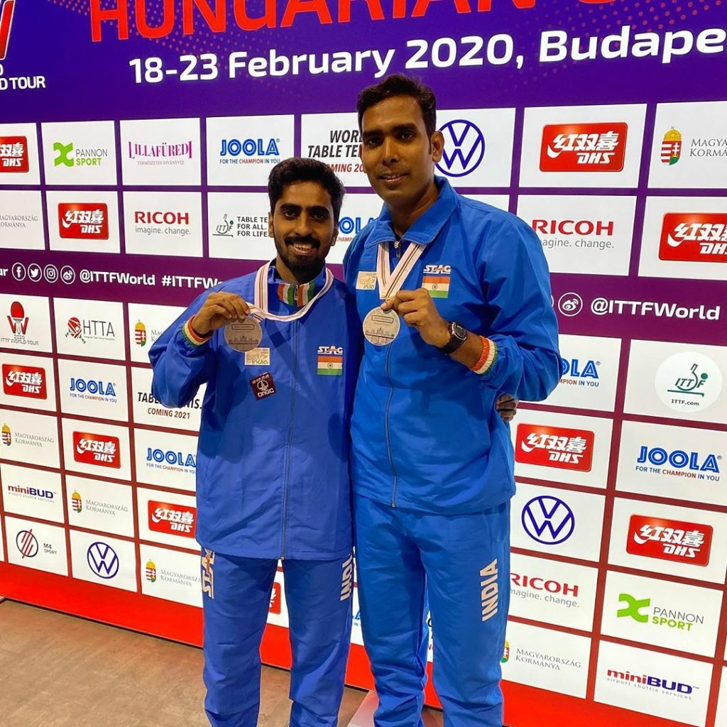 Table Tennis: Sharath-Sathiyan win silver at Hungarian Open