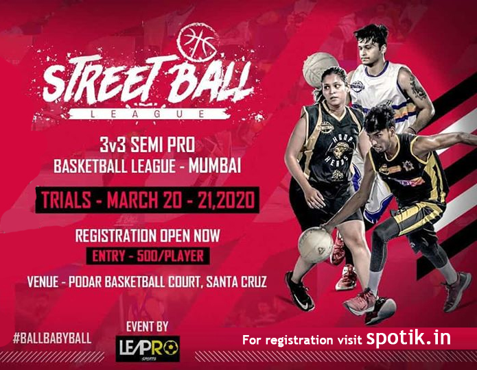 Trials for Street Ball League, Mumbai