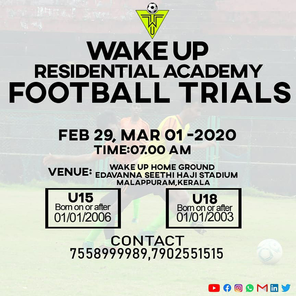 Wakeup Residential Academy Football Trials