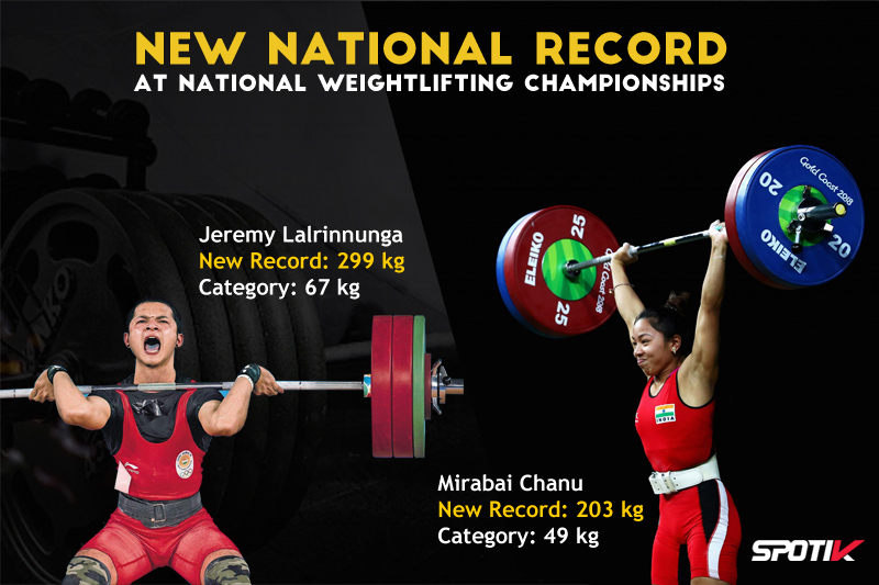 Jeremy Lalrinnunga & Mirabai Chanu rewrote own New National Record