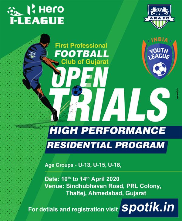 ARA FC, Ahmedabad Soccer Trials.