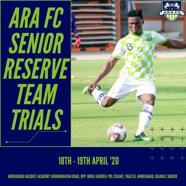 ARA FC Trials for the Senior Reserve Team.