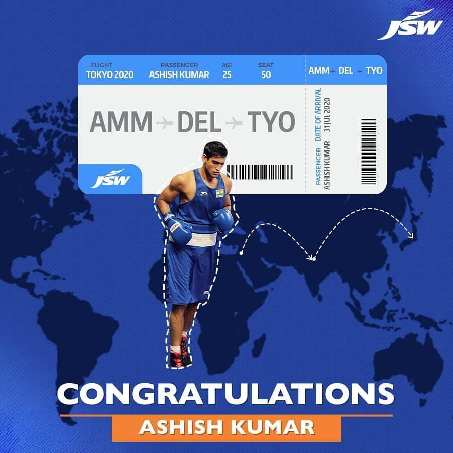 Boxer Ashish Kumer qualifies for Tokyo Olympic!