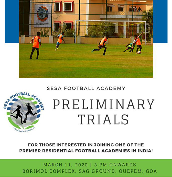 Sesa Football Academy Trials, Goa
