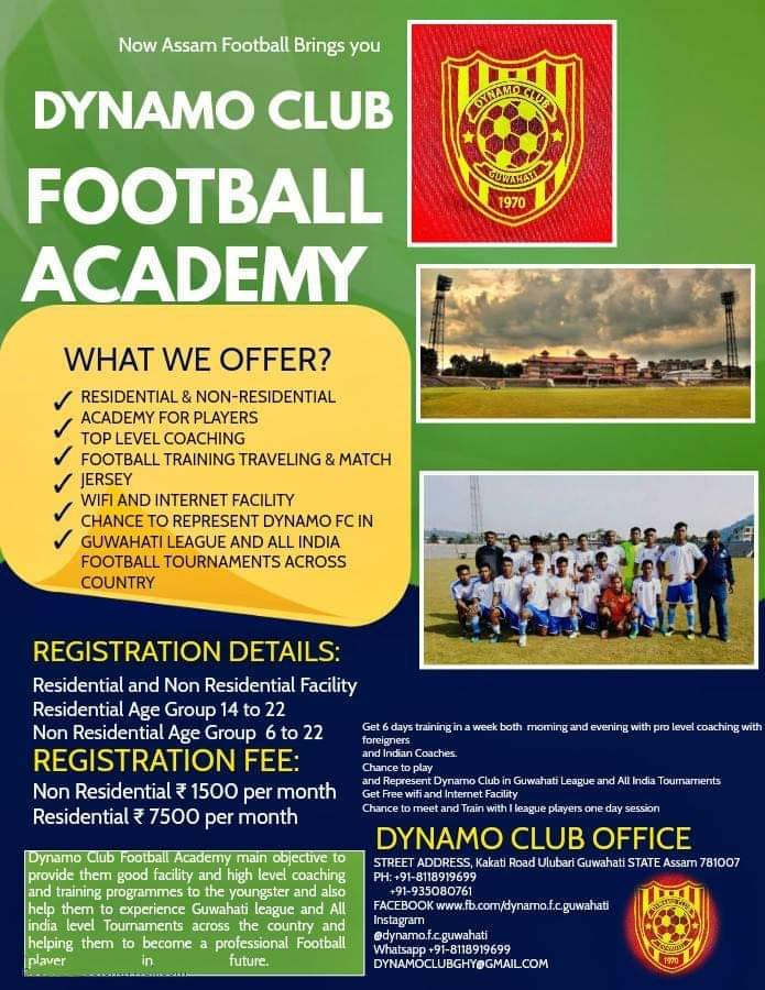 Dynamo Club Football Academy, Assam