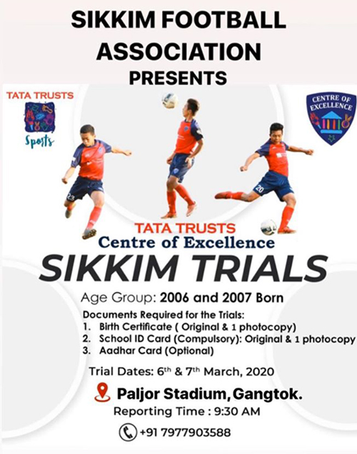 TATA TRUSTS CENTRE FOR EXCELLENCE, Sikkim Trials