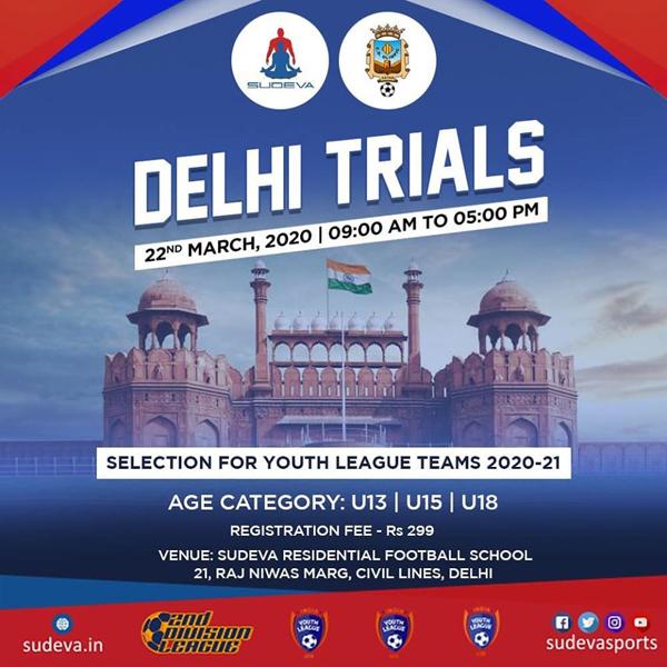Sudeva Football Academy, Delhi Trials