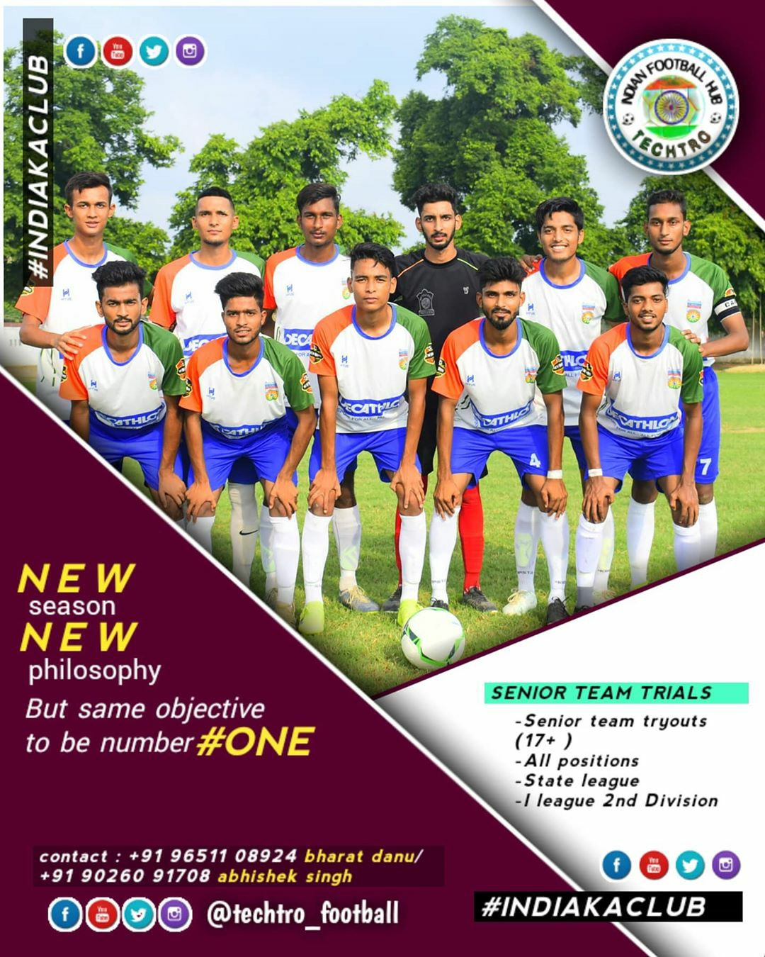 Techtro Football Senior Team Trials Lucknow