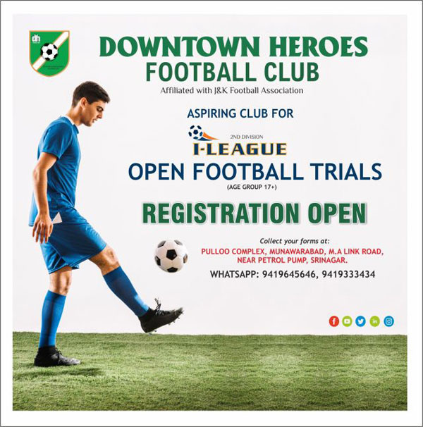 Downtown Heroes FC Open Trials, Srinagar