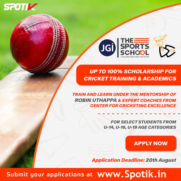 Robin Uthappa announce National Cricket Scholarship Program