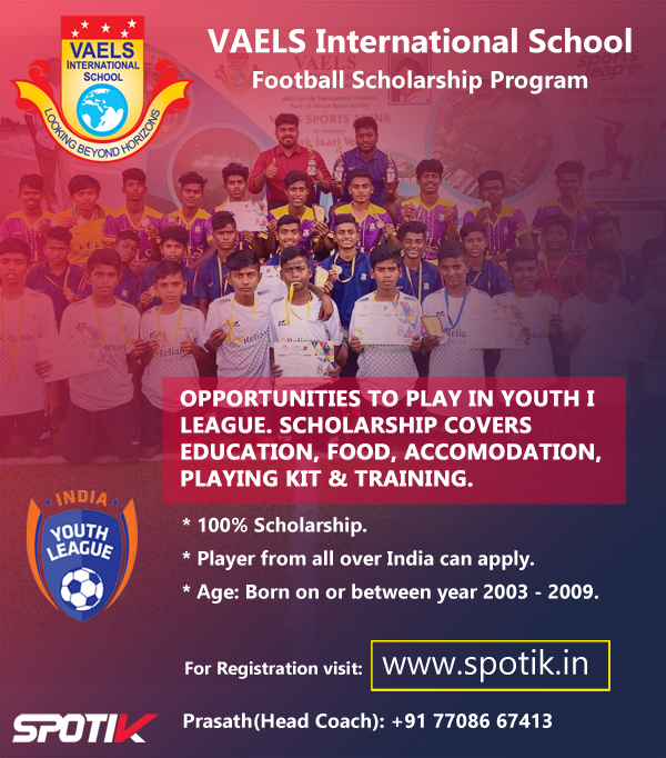 VAELS International School - Football Scholarship, Chennai