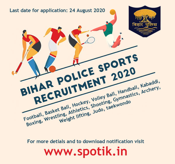 Bihar Police Recruitment 2020 through Sports Quota.