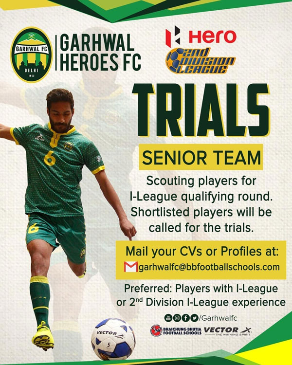 Garhwal FC 2nd Division I-League Trials