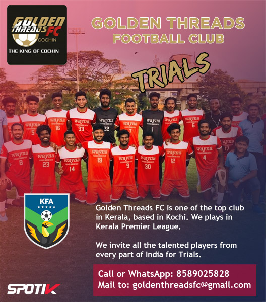 Golden Threads FC Trials, Kochi