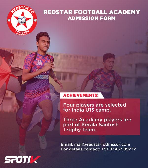 Redstar FC Residential Academy, Kerala.
