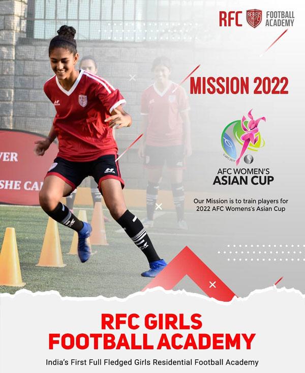 RFC girls' residential football academy.