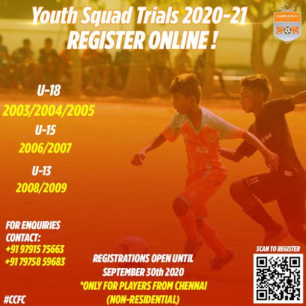 Chennai City FC Trials, Chennai