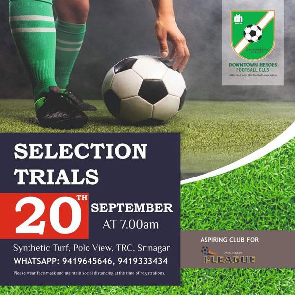 Downtown FC selection trials, Srinagar