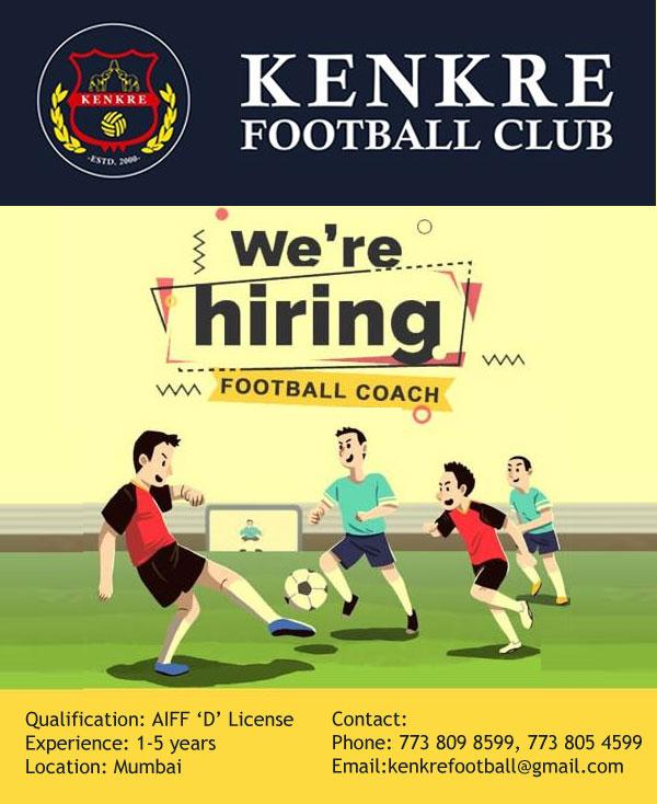 Kenkre FC Hiring Football Coach, Mumbai