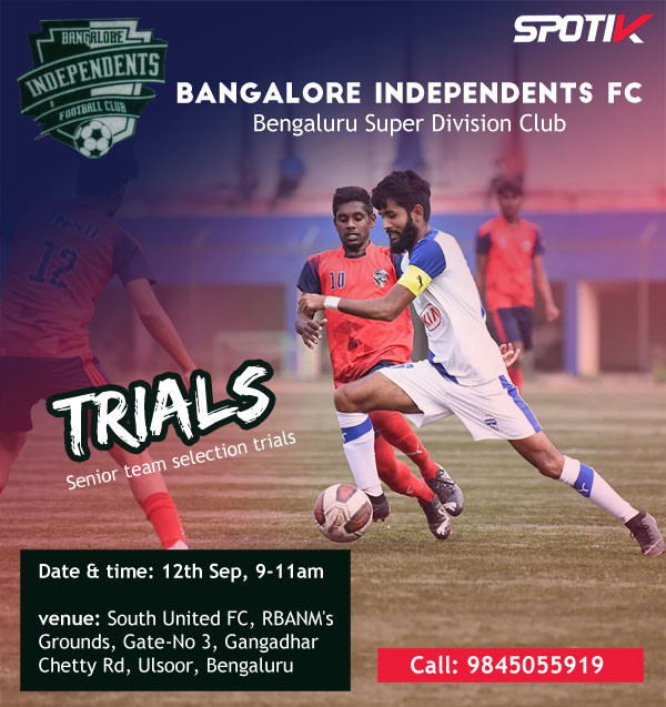 Bangalore Independents Fc Trials, Bengaluru