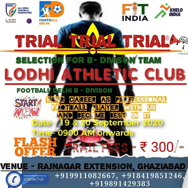 Lodhi Athletic Club Trials, Ghaziabad