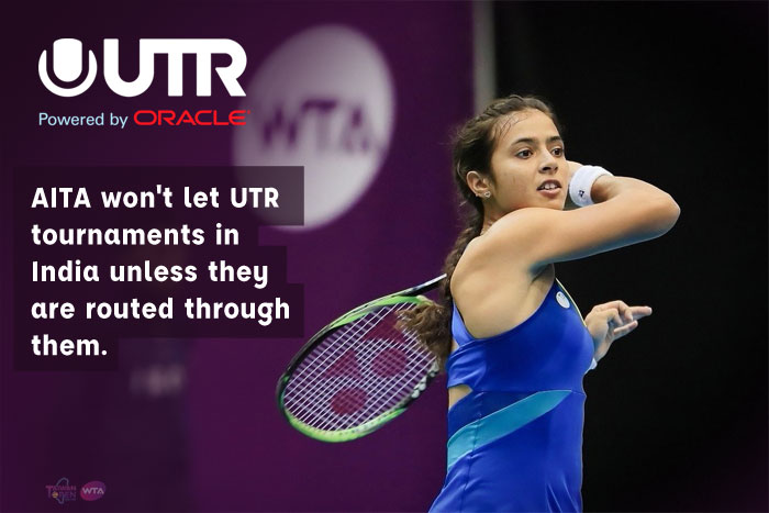 AITA won't let UTR tournaments in India unless they are routed through them