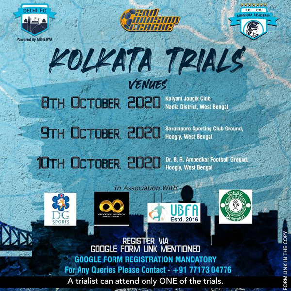 Delhi FC Kolkata Trials - I league 2nd Division