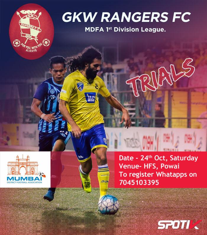 GKW Rangers FC, MDFA 1st Div, Mumbai