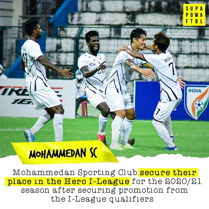Mohammedan SC qualify for the I-League after victory over Bhawanipore FC